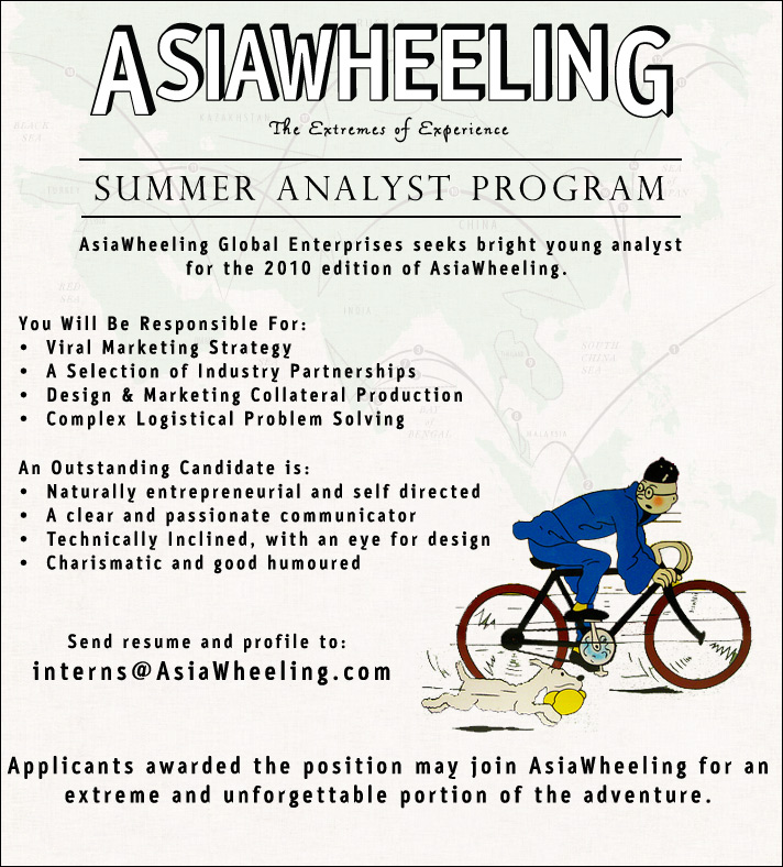 AsiaWheeling Internship