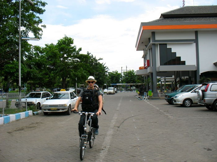 Cycling to Hotel